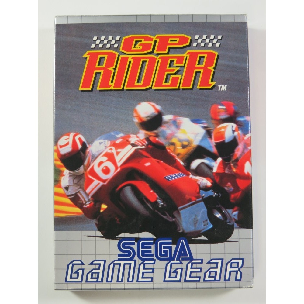 GP RIDER SEGA GAME GEAR (GG) PAL-EURO (COMPLETE - GOOD CONDITION OVERALL)