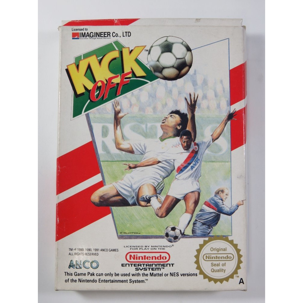 KICK OFF NINTENDO NES PAL-B (FRA) (COMPLET - GOOD CONDITION OVERALL)