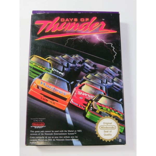 DAYS OF THUNDER NINTENDO NES PAL-B (FRA) (COMPLETE - GOOD CONDITION)