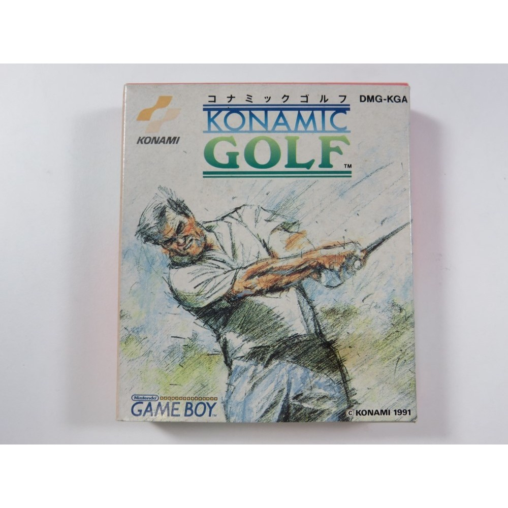 KONAMIC GOLF GAMEBOY (GB) JPN (COMPLETE WITH REG CARD - BOX SUNFADE) - (GOOD CONDITION OVERALL)
