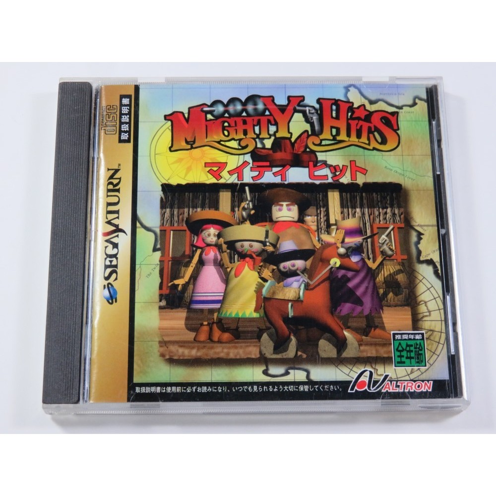 MIGHTY HITS SEGA SATURN NTSC-JPN (COMPLETE WITH SPIN CARD AND REG CARD - GOOD CONDITION)