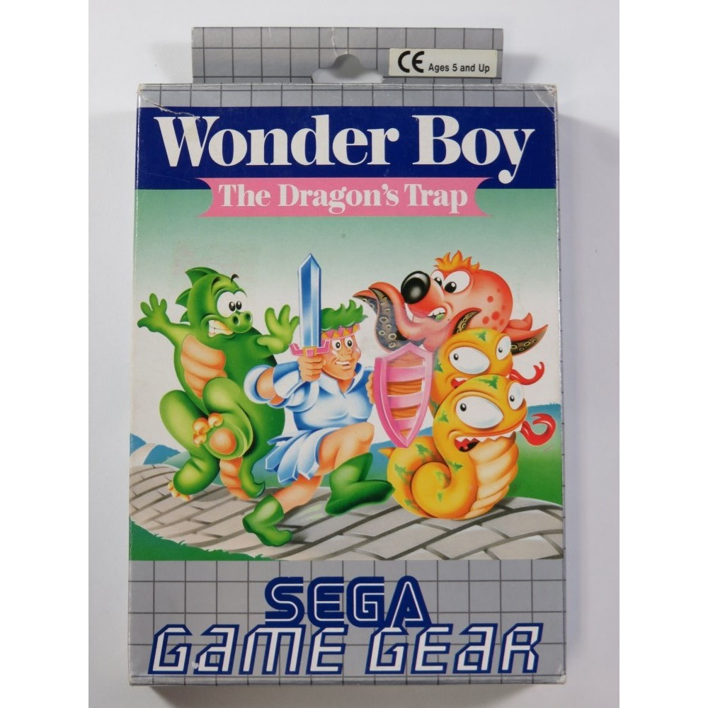 WONDER BOY THE DRAGON S TRAP SEGA GAMEGEAR PAL-EURO (COMPLETE - GOOD CONDITION)