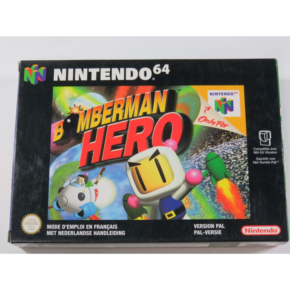 BOMBERMAN HERO NINTENDO 64 (N64) PAL-NFAH (COMPLETE - VERY GOOD CONDITION)