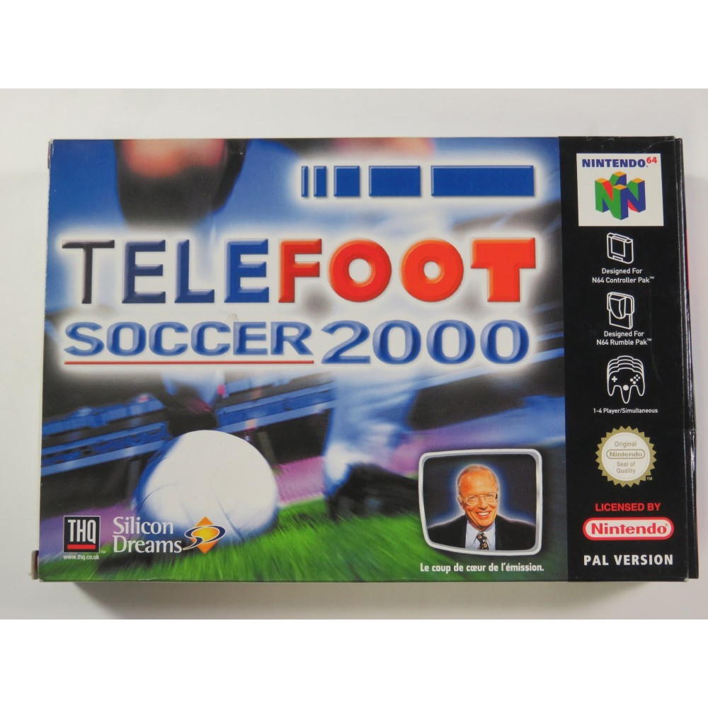 TELEFOOT SOCCER 2000 NINTENDO 64 (N64) PAL-FRA (COMPLETE - GREAT CONDITION)