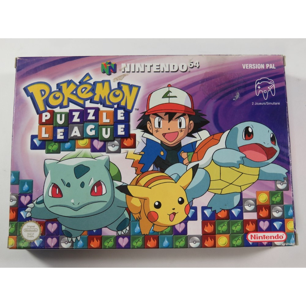 POKEMON PUZZLE LEAGUE NINTENDO 64 (N64) PAL-FRA (COMPLETE - GOOD CONDITION)