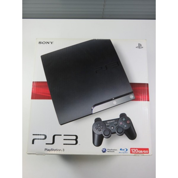 CONSOLE PS3 SLIM 120 GB (BOXED - WITHOUT MANUAL - PAD SIXAXIS INCLUDE (NOT DUALSHAOCK)) SERIAL : 02274530235615036