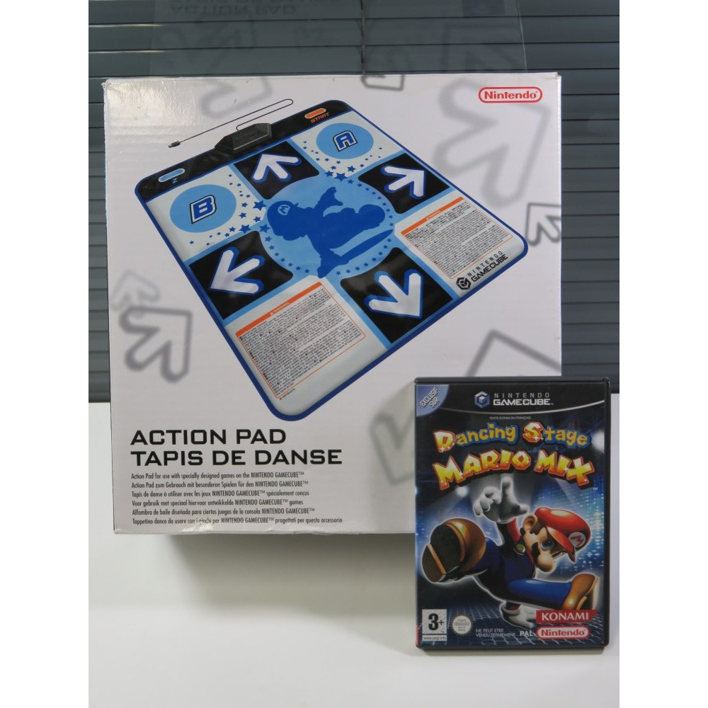 BUNDLE (TAPIS DE DANSE + DANCING STAGE MARIO MIX) NINTENDO GAMECUBE PAL-EURO (BOXED - GOOD CONDITION OVERALL)