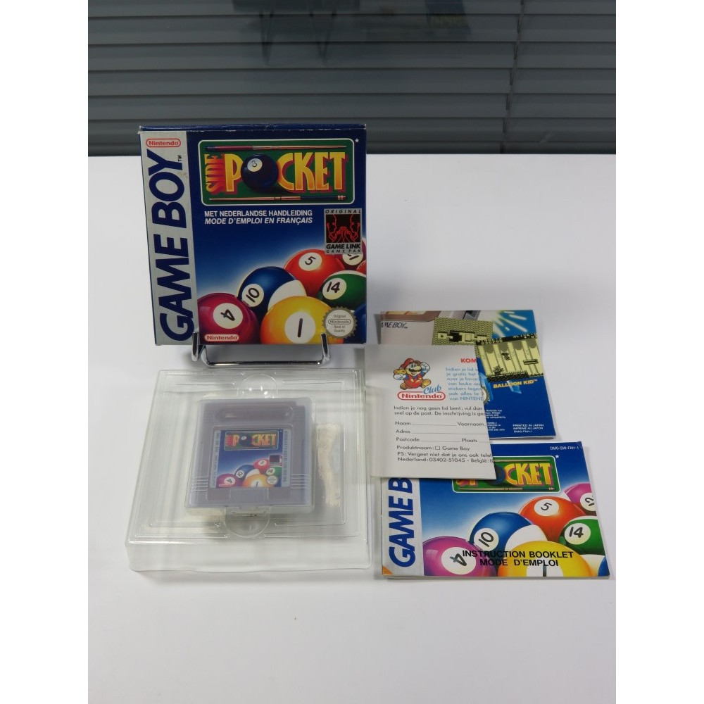 SIDE POCKET GAMEBOY (GB) FAH (COMPLET - GOOD CONDITION)