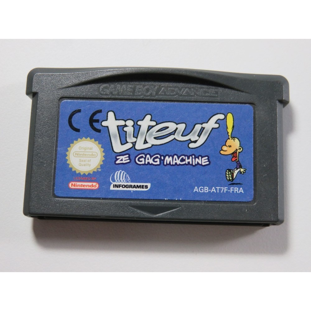 TITEUF ZE GAG MACHINE GAMEBOY ADVANCE (GBA) EUR (CARTRIDGE ONLY - GOOD CONDITION)