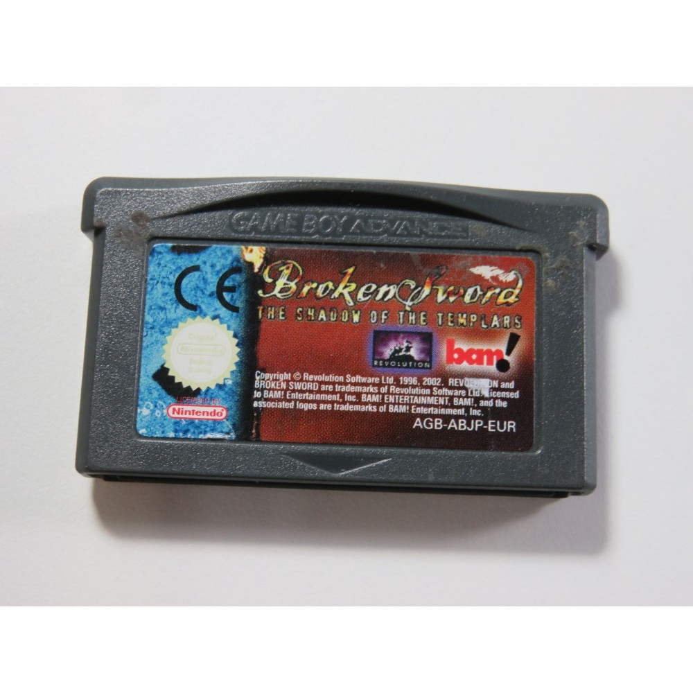 BROKEN SWORD - THE SHADOW OF THE TEMPLARS GAMEBOY ADVANCE (GBA)EUR (CARTRIDGE ONLY - GOOD CONDITION)