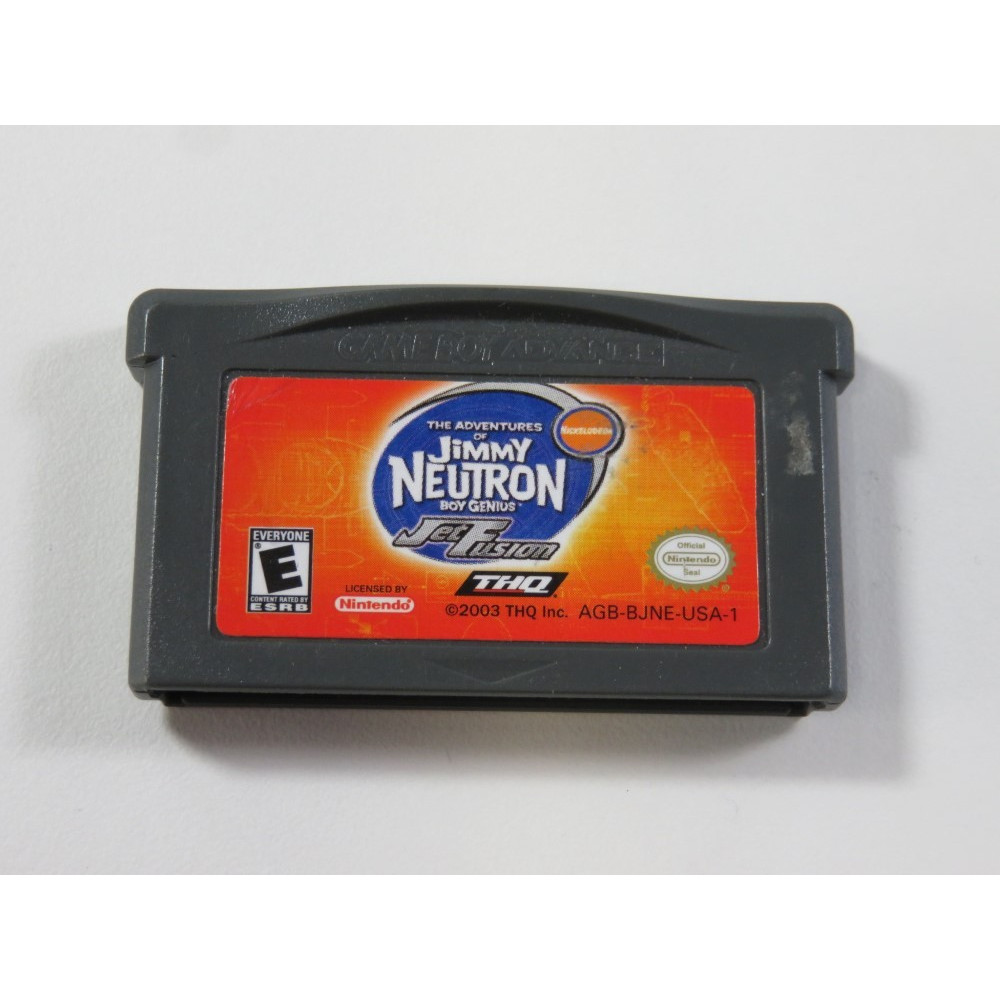 JIMMY NEUTRON JET FUSION GAMEBOY ADVANCE (GBA) USA (CARTRIDGE ONLY - GOOD CONDITION)