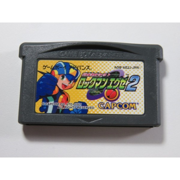 BATTLE NETWORK ROCKMAN (MEGAMAN) EXE 2 GAMEBOY ADVANCE (GBA) JPN (CARTRIDGE ONLY - GOOD CONDITION)
