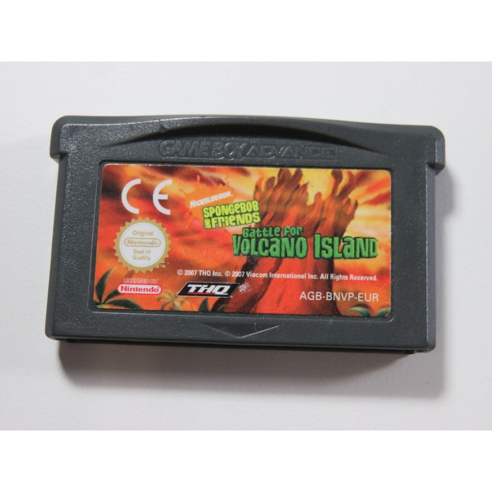 BOB L EPONGE BATTLE FOR VOLCANO ISLAND GAMEBOY ADVANCE (GBA) EUR (CARTRIDGE ONLY - GOOD CONDITION)