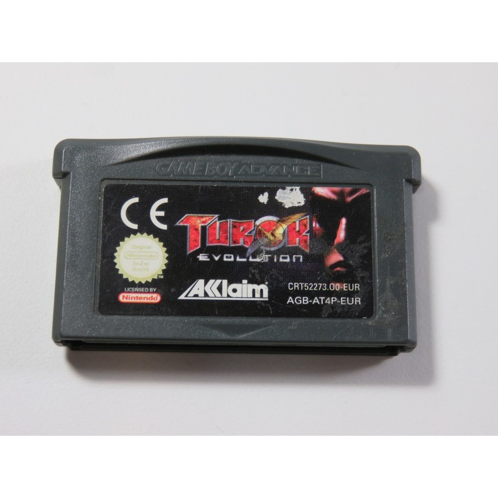 TUROK EVOLUTION GAMEBOY ADVANCE (GBA) EUR (CARTRIDGE ONLY - GOOD CONDITION)