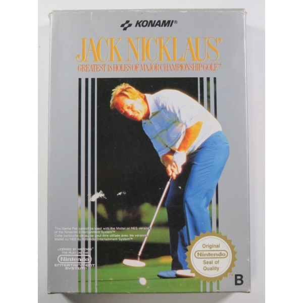 JACK NICKLAUS GOLF NINTENDO NES PAL-B (FRA) (COMPLETE - GOOD CONDITION)