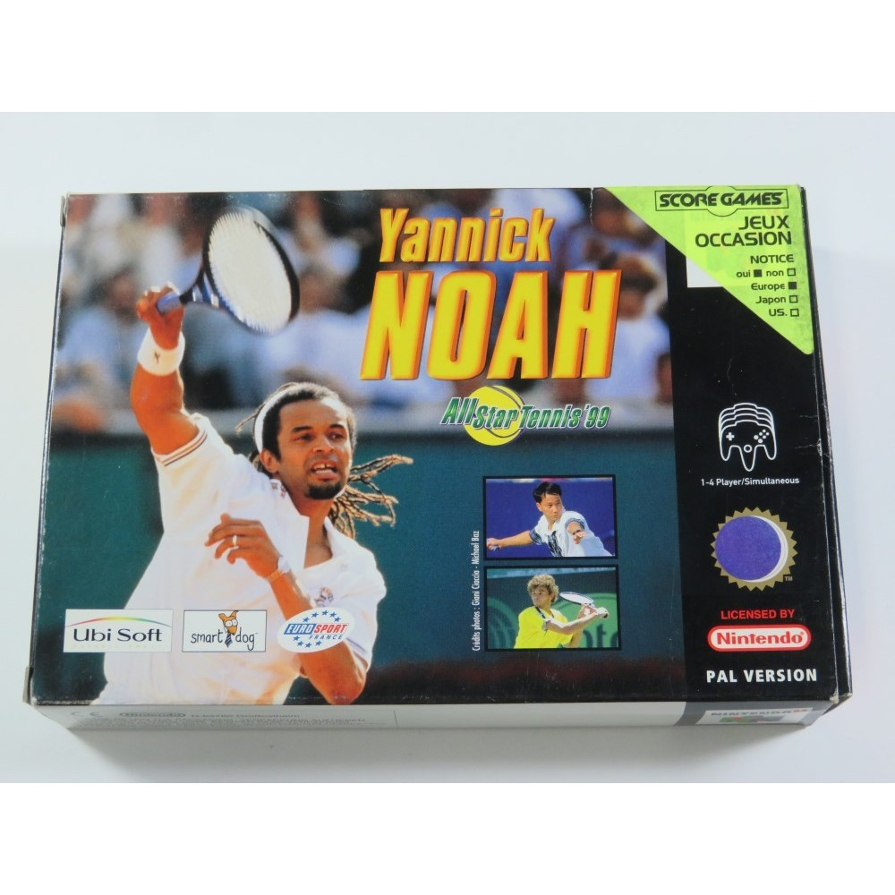 YANNICK NOAH ALL STAR TENNIS 99 NINTENDO 64 (N64) PAL-FRA (SANS NOTICE - WITHOUT MANUAL)