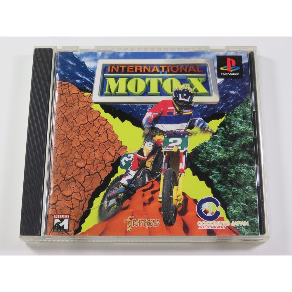 INTERNATIONAL MOTO X PLAYSTATION (PS1) NTSC-JPN (COMPLETE - GOOD CONDITION OVERALL)