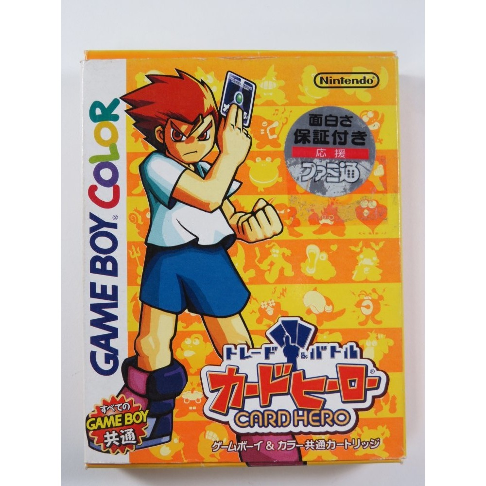 TRADE AND BATTLE CARD HERO GAMEBOY COLOR (GBC) JPN (COMPLETE - GOOD CONDITION OVERALL)