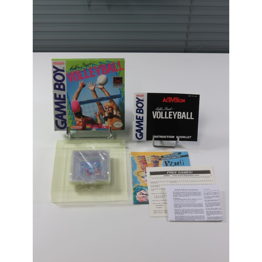 MALIBU BEACH VOLLEYBALL GAMEBOY (GB) USA (COMPLET - MINT CONDITION)(WITH IMPORT FRENCH MANUAL)