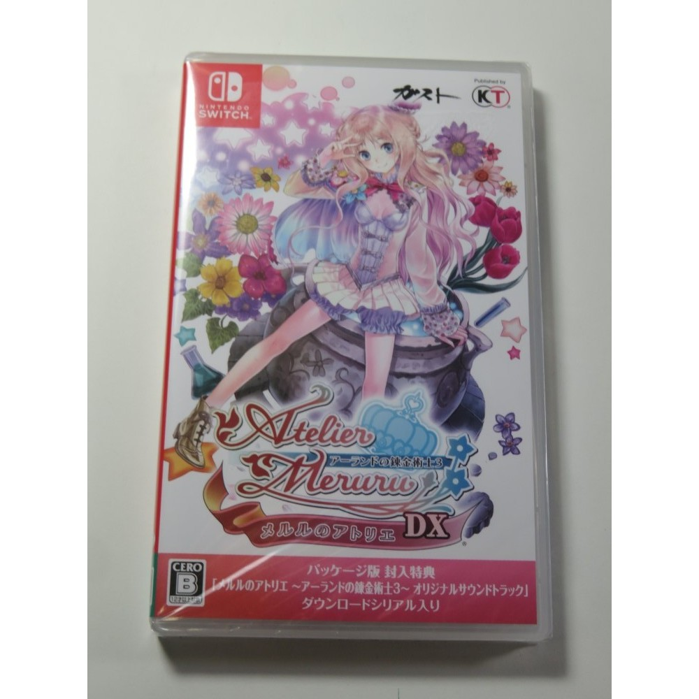 ATELIER MERURU THE APPRENTICE OF ARLAND DX SWITCH JAPAN NEW (SUNFADE)