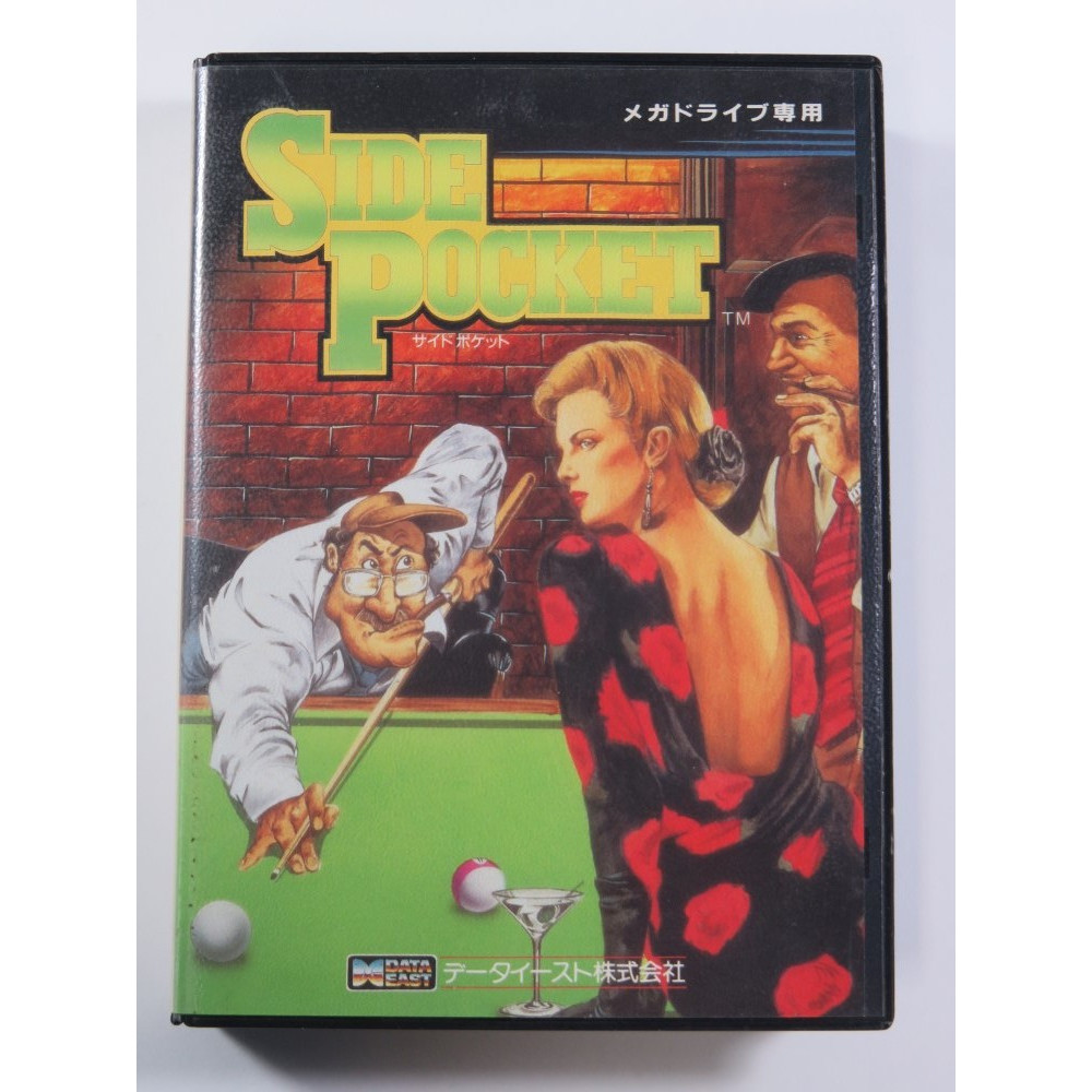 SIDE POCKET SEGA MEGADRIVE NTSC-JPN (COMPLETE - GOOD CONDITION OVERALL)