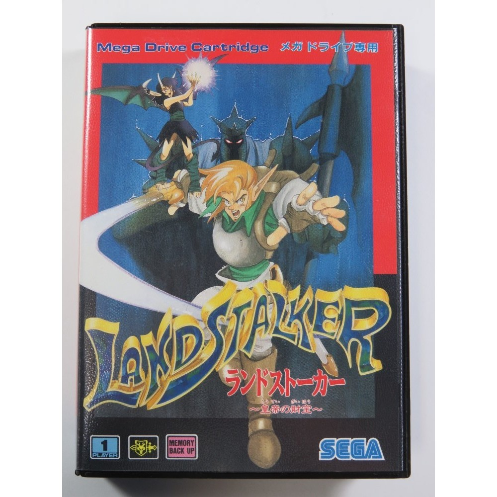 LANDSTALKER SEGA MEGADRIVE NTSC-JPN (COMPLETE WITH REG CARD - GREAT CONDITION)