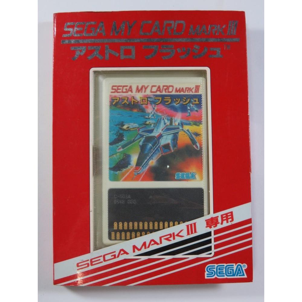 ASTRO FLASH (C-503 MY CARD RED) SEGA MARK III NTSC-JPN (COMPLETE - VERY GOOD CONDITION)