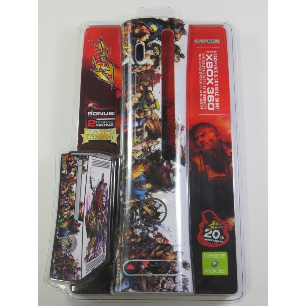 FACEPLATE + 2 SKINS XBOX360 STREET FIGHTER IV (NEUF - BRAND NEW)
