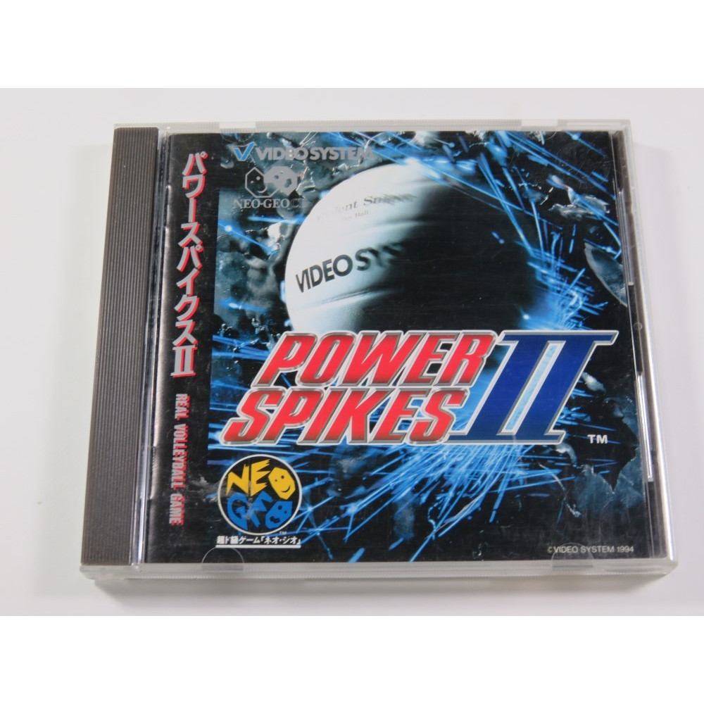 POWER SPIKES II NEO-GEO CD NTSC-JPN (COMPLETE WITH SPIN CARD - GOOD CONDITION)