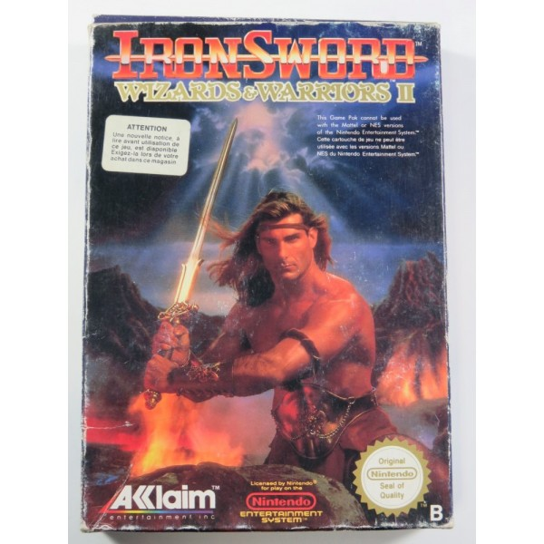 IRON SWORD : WIZARDS & WARRIORS II NES PAL-B (FRA) (COMPLETE - GOOD CONDITION)