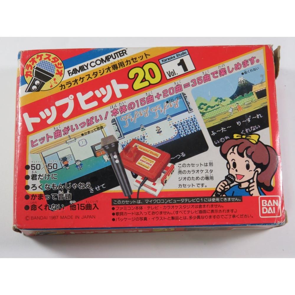 KARAOKE STUDIO SENYOU CASSETTE TOP HITS VOL. 1 - FAMICOM NTSC-JPN (COMPLETE WITH REG CARD-GOOD CONDITION) - (VERY RARE)