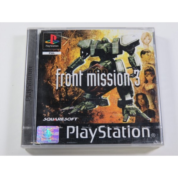 FRONT MISSION 3 PLAYSTATION (PS1) PAL-FR (NEUF - BRAND NEW) SQUARESOFT 2000