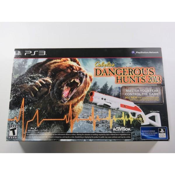 CABELA S DANGEROUS HUNTS 2013 WITH GUN PS3 USA NEW