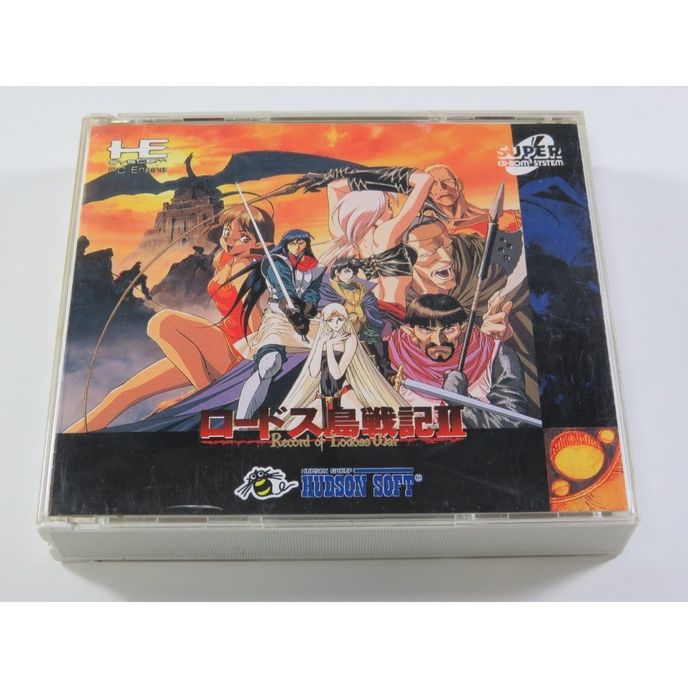 RECORD OF LODOSS WAR : TOUSENKI II NEC CD-ROM2 NTSC-JPN (COMPLETE WITH WORLD MAP - GOOD CONDITION)