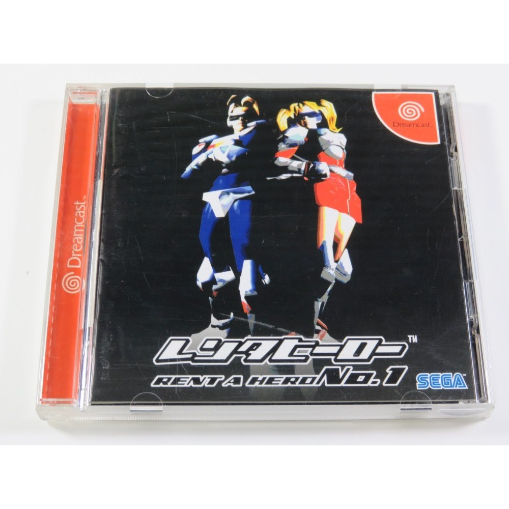 RENT A HERO NO.1 SEGA DREAMCAST NTSC-JPN (COMPLETE WITH SPIN CARD AND REG CARD - VERY GOOD CONDITION)