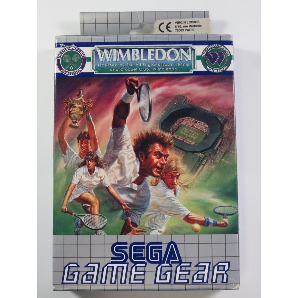 WIMBLEDON SEGA GAME GEAR EURO (COMPLETE - GOOD CONDITION OVERALL)