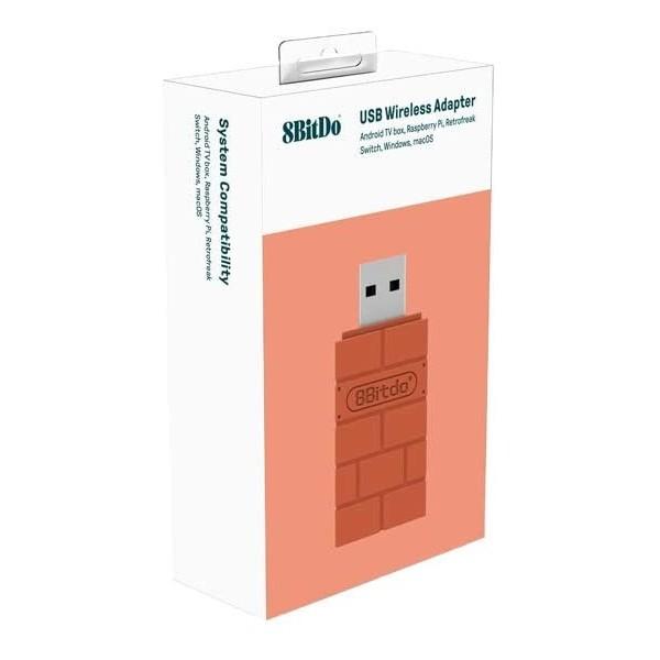 USB WIRELESS ADAPTER FOR WINDOWS, MACOS,RASPI & SWITCH 8BITDO NEW