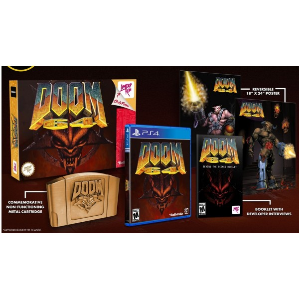 DOOM 64 CLASSIC EDITION LIMITED RUN PS4 US NEW