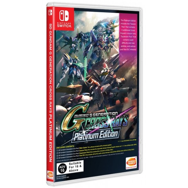 SD GUNDAM G GENERATION CROSS RAYS PLATINUM EDITION SWITCH ASIAN AVEC TEXTE EN ANGLAIS NEW