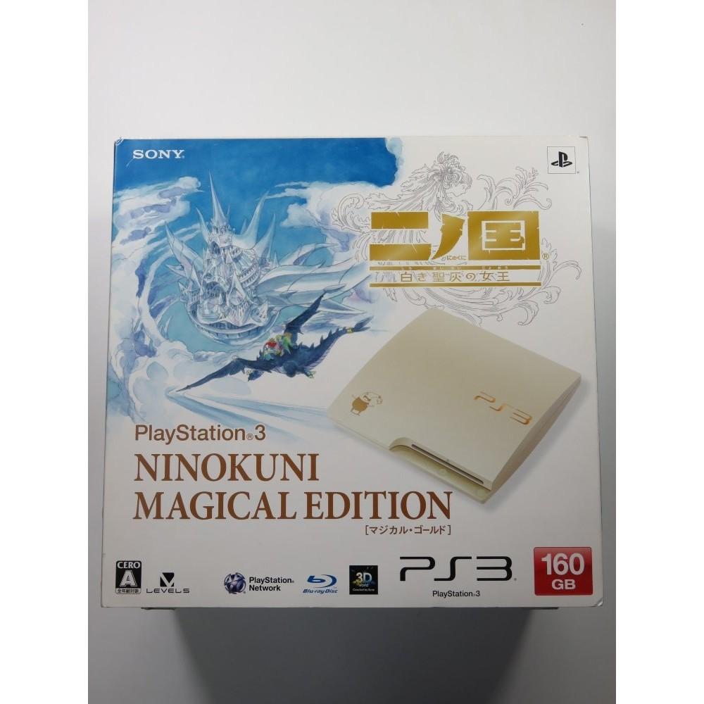 CONSOLE PLAYSTATION 3 NINOKUNI: SHIROKI SEIHAI NO JOOU MAGICAL EDITION 160 GB JAPAN (NEUF - BRAND NEW)