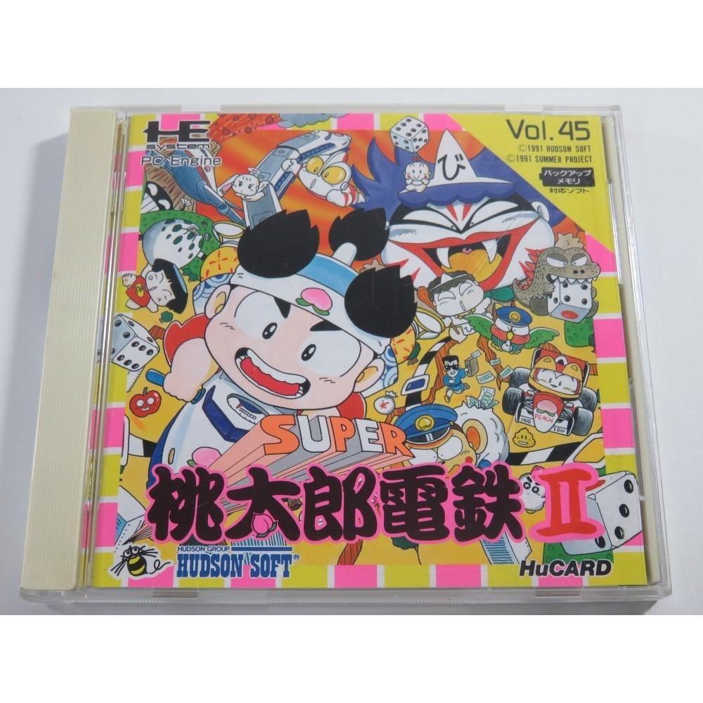 SUPER MOMOTARO DENTETSU II NEC PCE HUCARD NTSC-JPN (COMPLETE - GOOD CONDITION)
