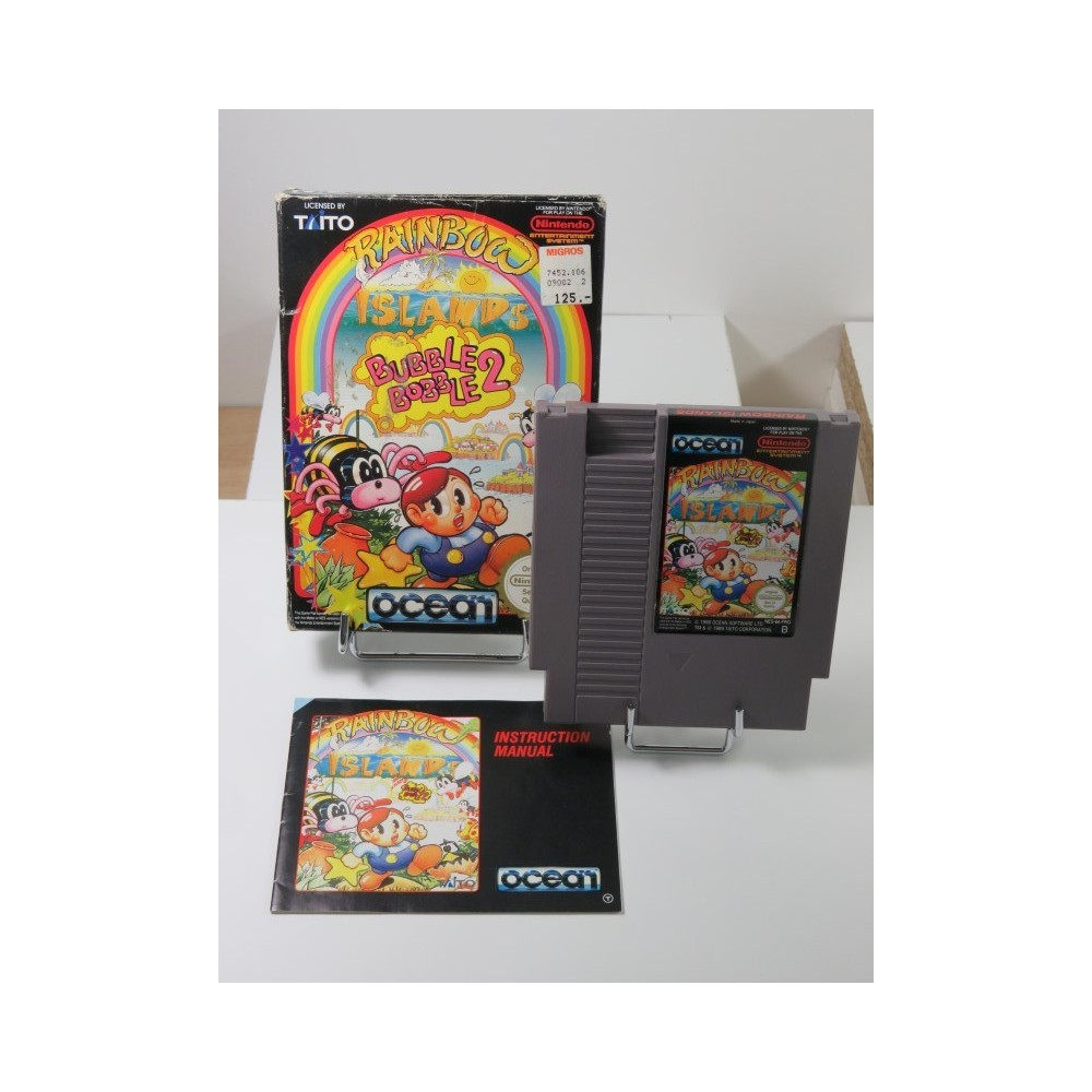 RAINBOW ISLANDS - BUBBLE BOBBLE 2 NINTENDO (NES) PAL-B FRG (COMPLET - VERY GOOD CONDITION OVERALL)