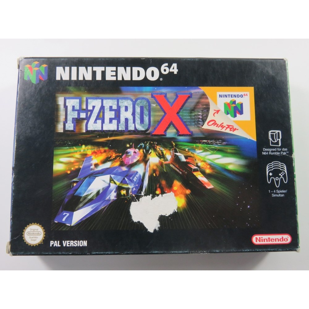 F-ZERO X NINTENDO 64 (N64) PAL-NOE (COMPLET-GOOD CONDITION OVERALL) (GERMAN MANUAL)