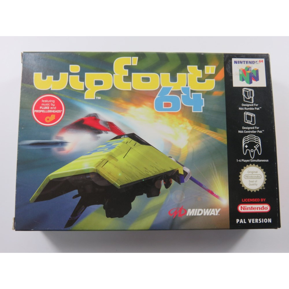 WIPEOUT 64 NINTENDO 64 (N64) PAL-EURO (COMPLETE - VERY GOOD CONDITION)