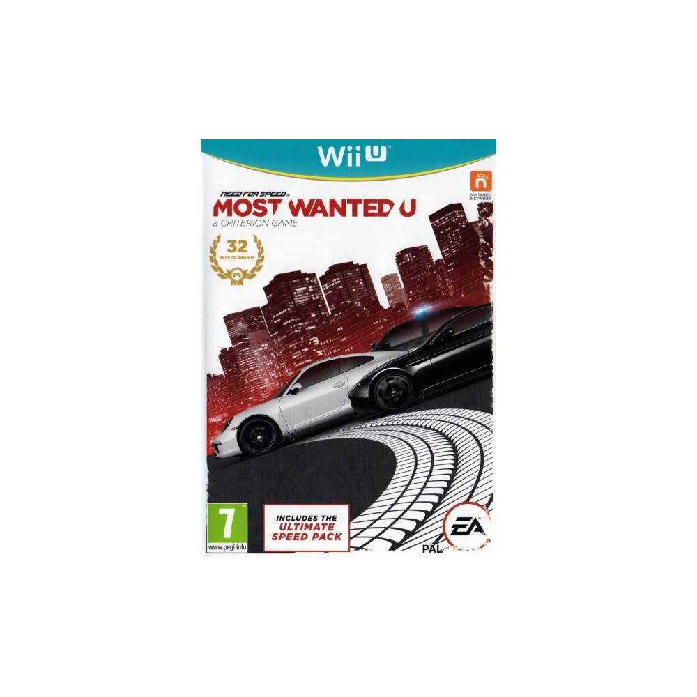 NEED FOR SPEED MOST WANTED U WIIU PAL UK OCCASION