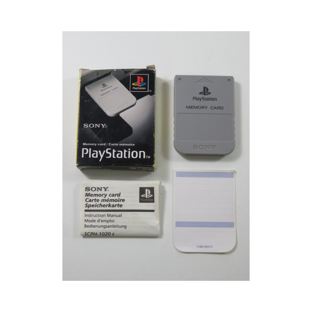 MEMORY CARD - CARTE MEMOIRE PLAYSTATION 1 (PS1) SCPH-1020 (BOXED - COMPLET - GOOD CONDITION)