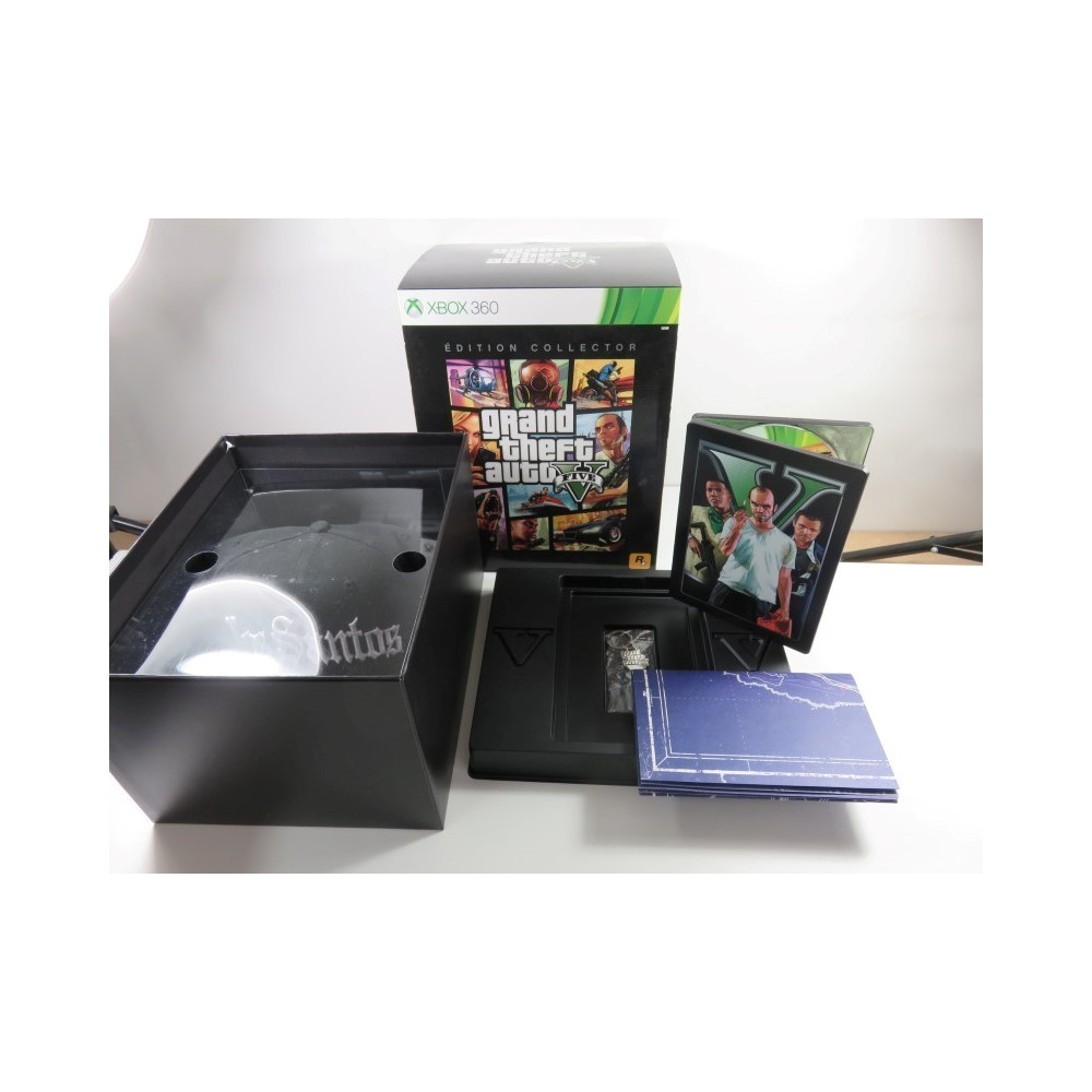 GTA V EDITION COLLECTOR XBOX 360 (X360) PAL-FR (COMPLET - GOOD CONDITION)