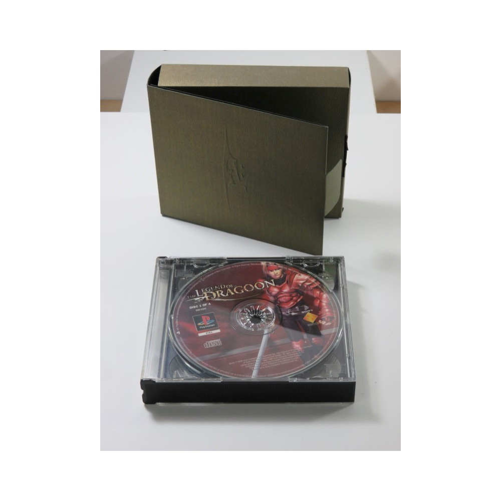 THE LEGEND OF DRAGOON PRESS KIT (WITHOUT PRESS KIT CD) PLAYSTATION 1 (PS1) PAL-EURO (BOX + 4 CD - GOOD CONDITION)