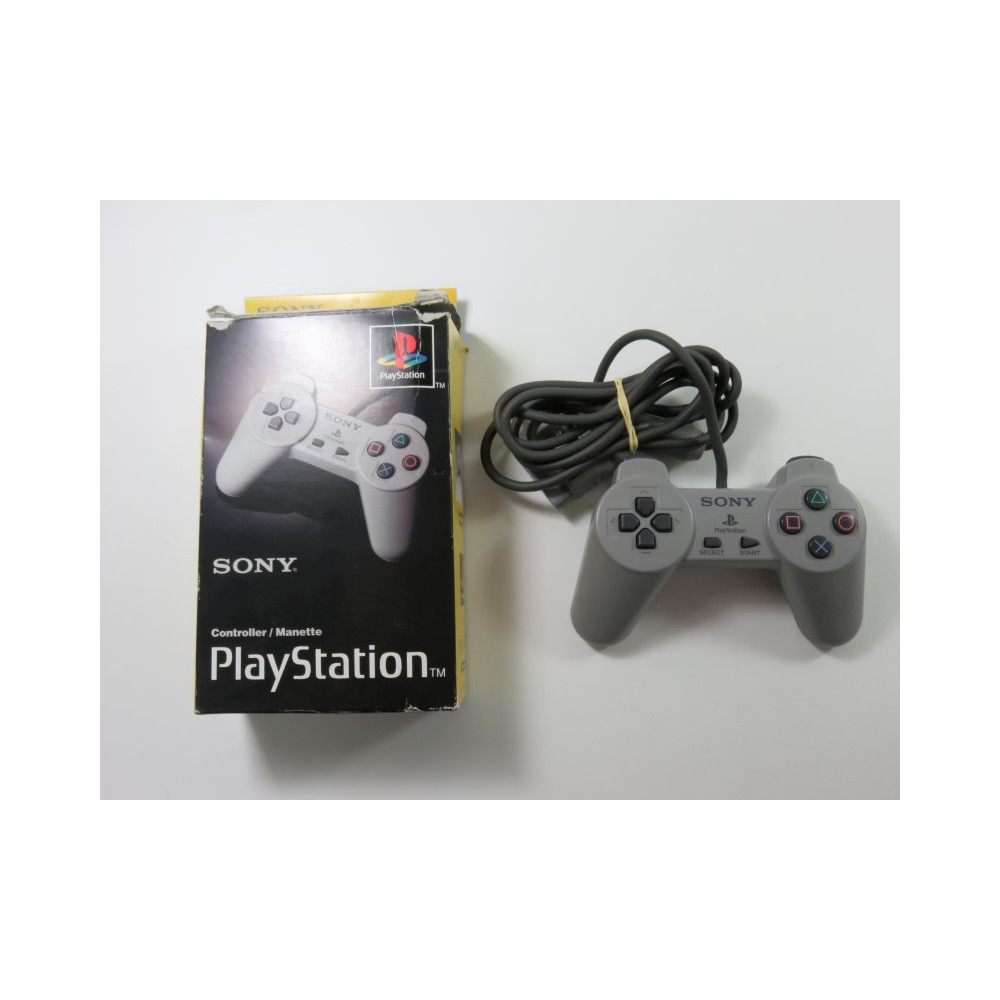 CONTROLLER - MANETTE PLAYSTATION 1 (PS1) SCPH-1080E PAL-EURO (BOXED - COMPLET - GOOD CONDITION)
