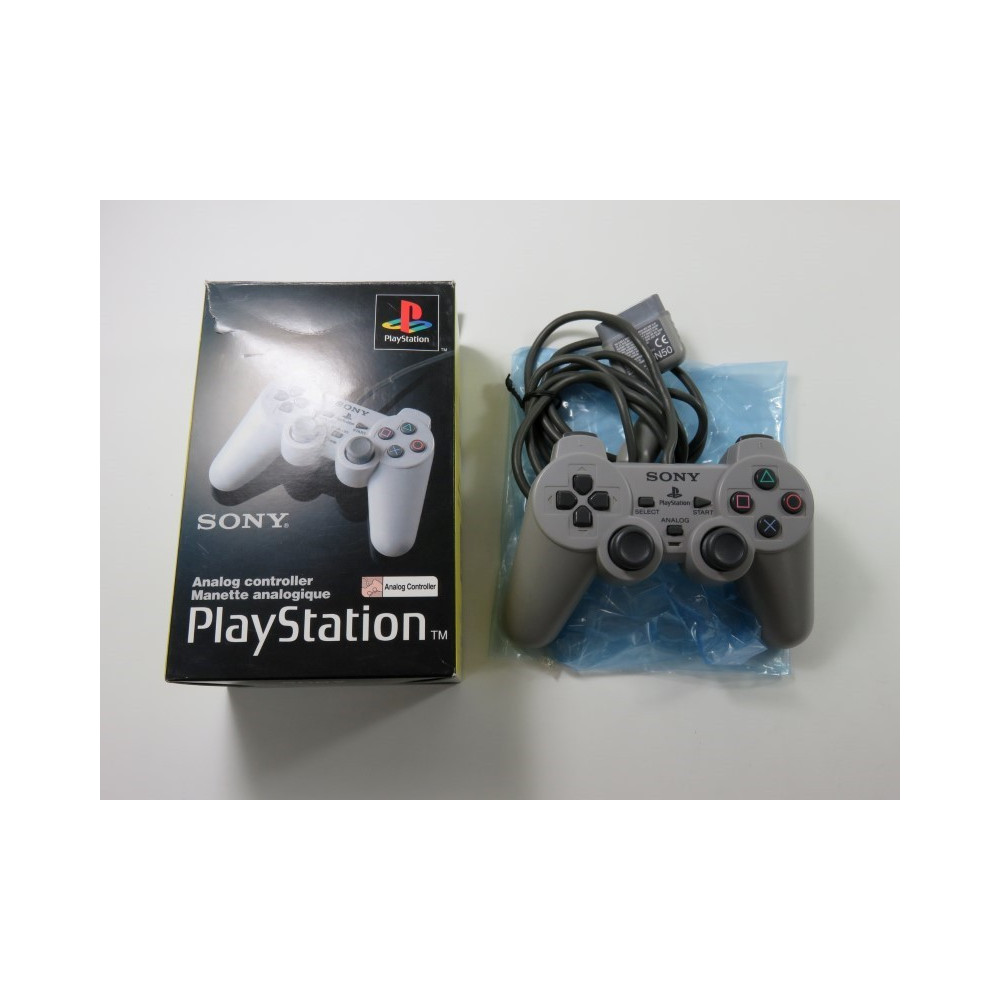 ANALOG CONTROLLER - MANETTE ANALOGIQUE SCPH-1180E PLAYSTATION 1 (PS1) PAL-EURO (COMPLET - GOOD CONDITION)